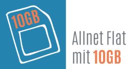 Allnet Flat mit 10 GB Datenvolumen im Vergleich