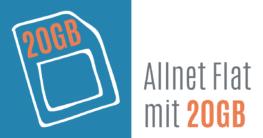 Allnet Flat mit 20 GB Datenvolumen im Vergleich