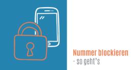 Telefonnummerummern sperren auf dem Smartphone