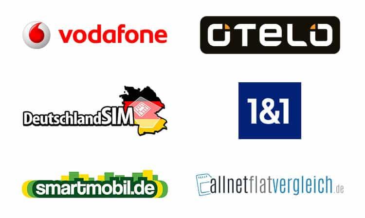 Provider im Vodafone D2 Netz